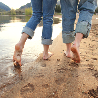 walk in nature to absorb beneficial bacteria