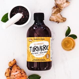 Bio-fermented Turmeric Probiotic Foods